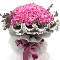 핑크로즈아쿠아장미꽃다발