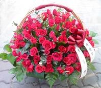 빨강장미50송이꽃바구니
