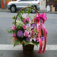 와이쁘다꽃바구니